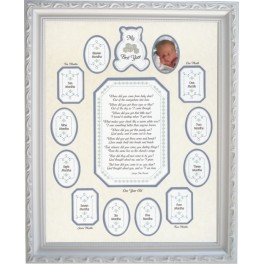 My First Year Teddy Month by Month Mat (Unframed) 3500A
