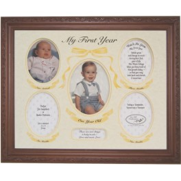 My First Year Mat And Frame Ivory/ Buttercup (Unframed)